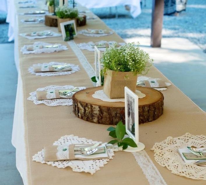 أدوات الطاولة بنفشة الدانتيل
