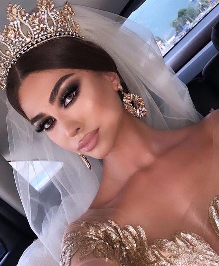 مكياج عروس خليجي سموكي