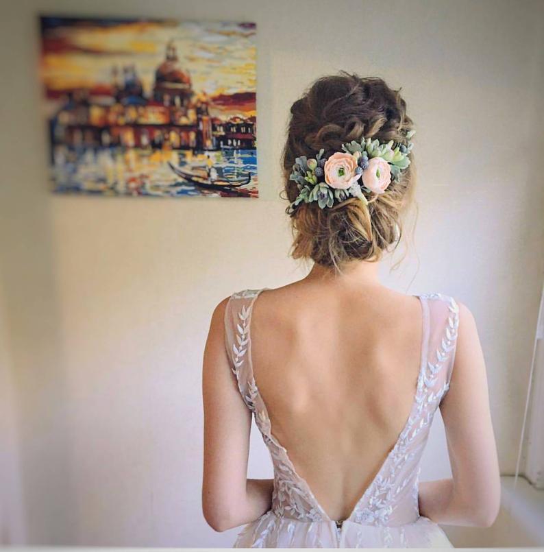 عصابة رأس للعروس من الورود