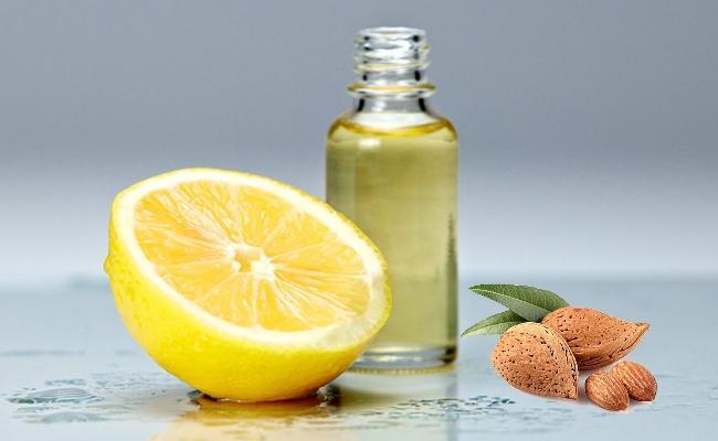 زيت اللوز والليمون