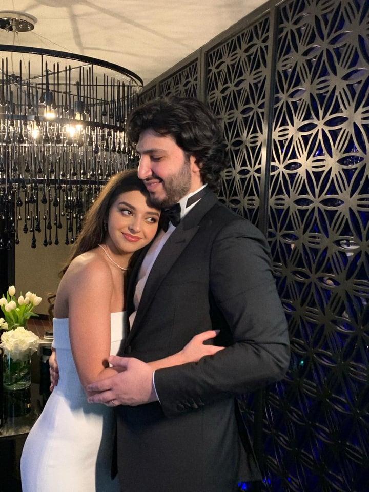 محمد شاكر وزوجته كاترينا مراد