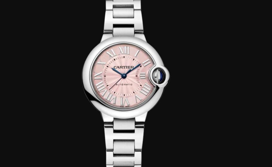 ساعة باللونين الزهري والفضي من كارتييه