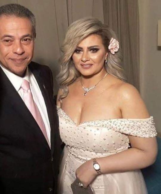 بالصور زفاف توفيق عكاشة وحياة الدرديري مجلة سيدتي