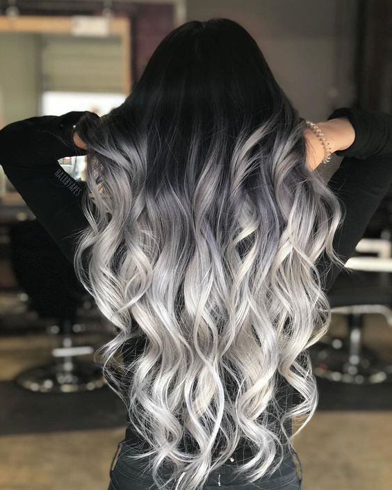صبغة شعر باللون الرمادي